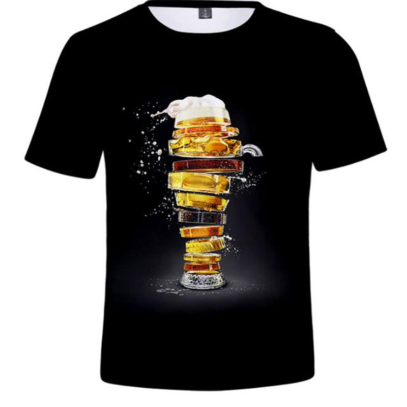 2019 New Summer Beer Full Fashion 3D Print Men T Shirt Novelty Funny Men Short Sleeve T-Shirt Causal Man T Shirt Unisex Tees Top image