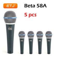 ETJ микрофон 5 шт. Beta58A Высокое качество для караоке с проводом микрофон Динамический микрофоны KTV