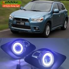 LED Gündüz Farları Mitsubishi ASX RVR 2011 2012 LED Melek Göz DRL Için H11 55 W Sis Işık Halojen