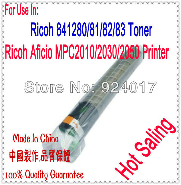 Refill Toner For Ricoh Aficio MPC 1500 2010 2030 Printer,Use For Ricoh 841280 841281/82/83/83 Toner Cartridge,High Capacity 2pcs lot alzenit for ricoh mpc 2030 2010 2530 2050 2550 oem new drum cleaning blade printer parts