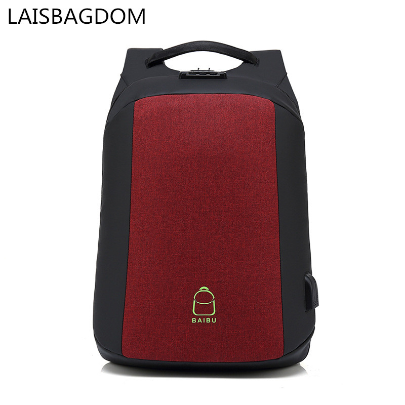 Anti Theft Backpack Waterproof School Bags for ManMultifunction USB Charging Men Laptop Backpacks Business Travel Bag 14 15 15 6 inch flax linen laptop notebook backpack bags case school backpack for travel shopping climbing men women