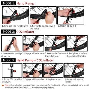 Image 4 - Mini bomba de mano para bicicleta, bomba portátil con adaptador de válvula, inflador de aire para bicicleta