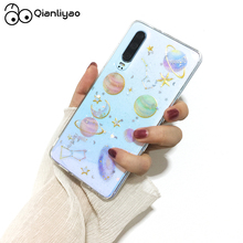 Qianliyao Glitter Space Star Clear phone case For huawei p30 pro cases for p20 lite Starry sky transparent soft TPU Funda