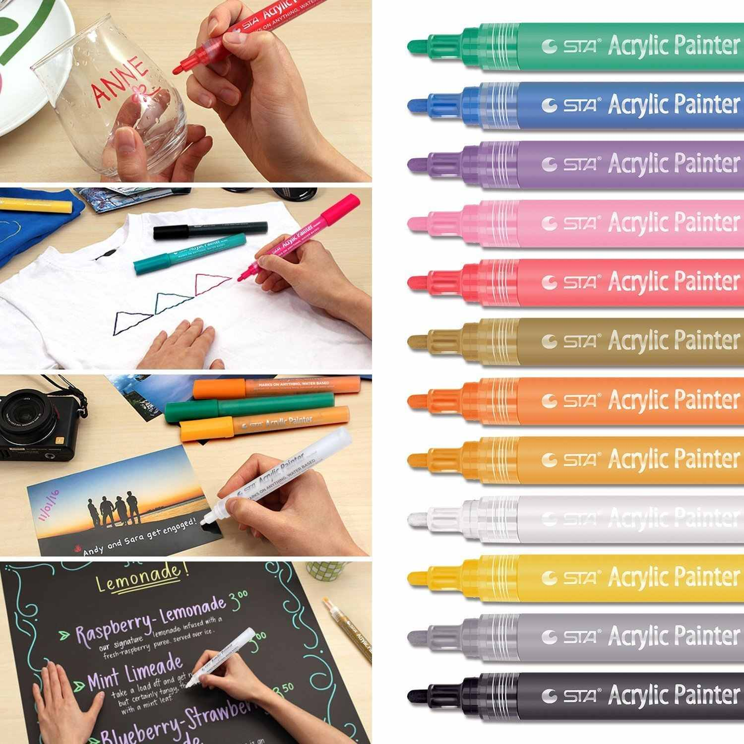 Acrylic Paint Markers Pens Pandafly Art Permanent Paint
