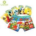 5 Unids/lote Kawaii Kids Niños Boy Ropa Interior Underware Calzoncillos Calzoncillos Boxer de Algodón Pantalones de Los Niños del Bebé De Dibujos Animados Suave 3-13 Año
