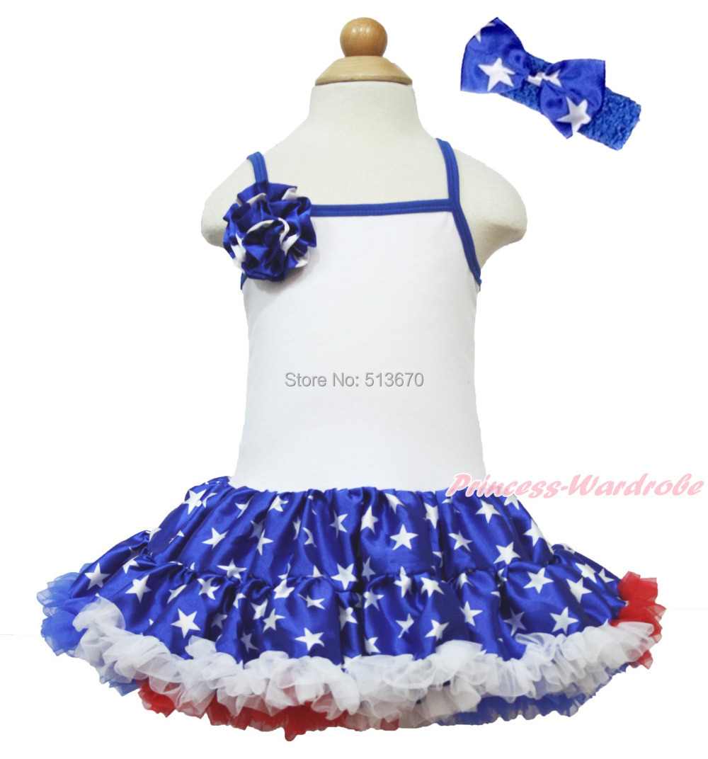 4th July America Birthday Patriotic Star Rose Girl Blue White Halter Dress 1-8Y MAHD041 плеер blu ray samsung bd j5500 ru черный