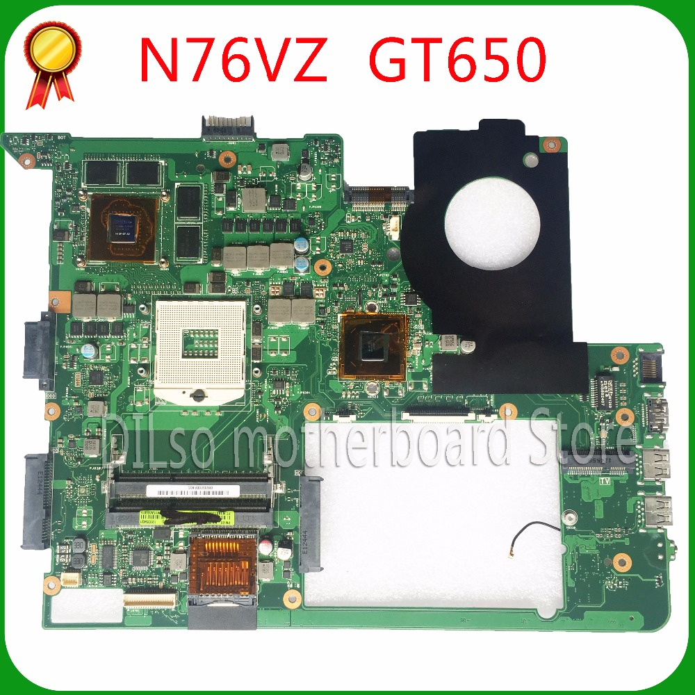 KEFU N76VZ motherboard For ASUS N76V N76VM N76VZ Laptop motherboard REV 2.2 GT650 100% tested freeshipping original mainboard ipc motherboard sbc81206 rev a3 rc 100