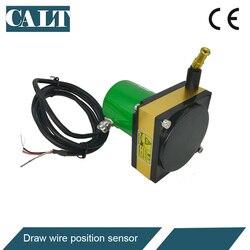 CALT 2500mm faixa de medição de precisão potenciômetro corda transdutor linear de saída 24vdc 4-20mA CWP-M2500A