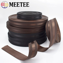 Meetee 5Meters 25-38mm Polyester Nylon Webbing Tapes DIY Safety Seat Backpack Pet Strap Belt Strapping Bias Binding