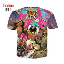 Sondirane New Fashion Womens Mens FlatBush Zombies Funny 3D Print Casual T Shirt Summer
