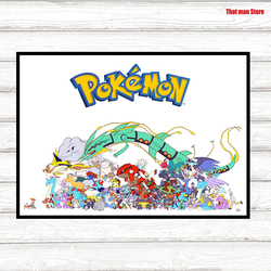 Pokemon Japanese anime Posters Wall Sticker Good Quality Glossy Paper Wall Decoration Livingroom Children's decorative paintings
