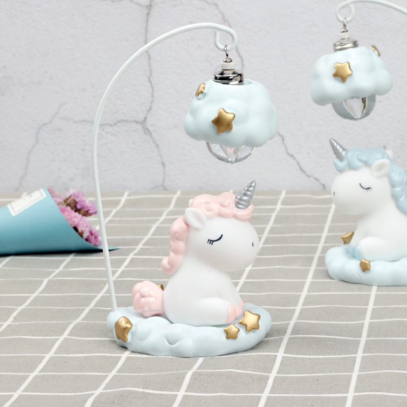 Cute Cartoon LED Night Light Home Decor Light Resin Unicorn Light Bedside Table Lamp For Baby Children Kids Girls Birthday Gift (1)