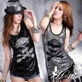Sexy Ds sexy jazz dance fashion hiphop hip-hop clothes costume paillette skull slim top