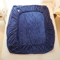Winter warm High Quality Flannel velvet bed Sheet Warm Flannel Fleece Fitted Sheet Bedsheet Solid Color 90/100/120/150x200cm