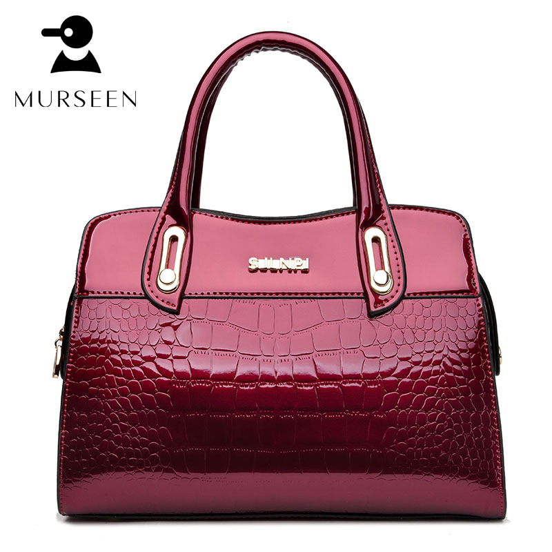 2018 Fashion Women Leather Handbag PU Big Tote Bag Alligator High Quality Solid Large Capacity Luxury Design Brand Shoulder Bags
