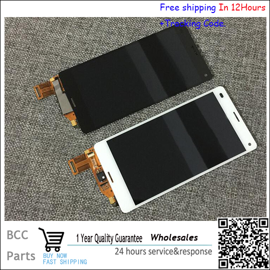 ФОТО Best Quality!! Original New For sony Xperia Z3 Compact Z3 mini M55W Black white Touch screen+LCD display Test Ok