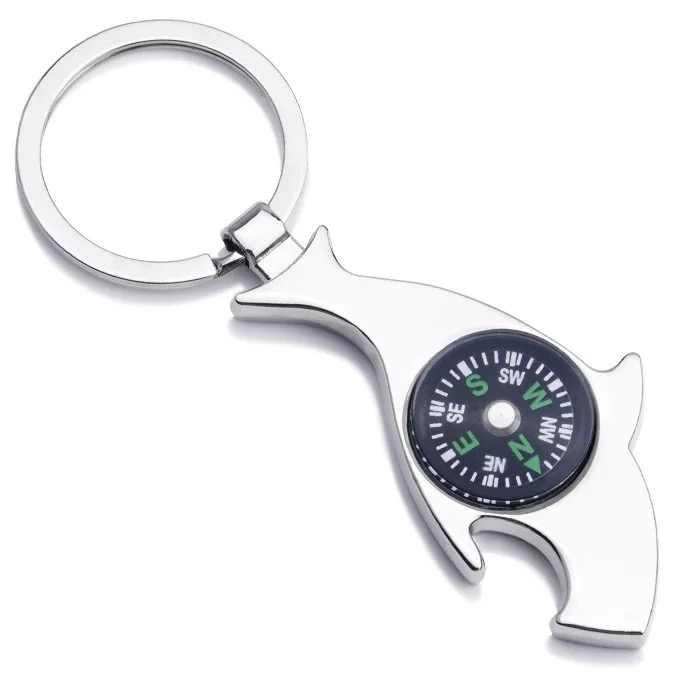 コンパスキーチェーン金属キーバックルロットパーソナライズキーホルダーはキーホルダーカーアクセサリーのクリエイティブギフト子供のための赤ちゃんキーペンダント