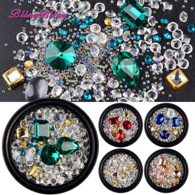 2018 New Crystal Glass Rhinestones Nail Designs 3d Nail Art Gems
