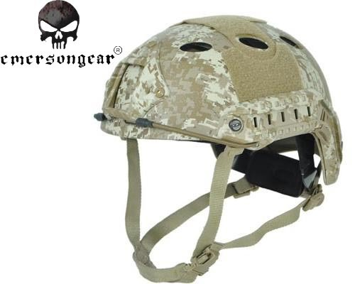 ФОТО Emersongear Carbon Fiber Helmet PJ Type Fast Jumping Protective Face Mask Helmet Paintball Military Helmet EM5668 Digital Desert