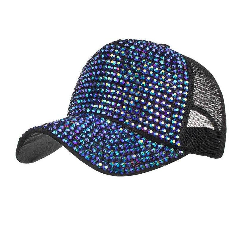 Hip Hop Caps Hats Women Rhinestone Hats Female Baseball Cap Bling Diamond Hat Summer Berets Caps For Men 30AG31