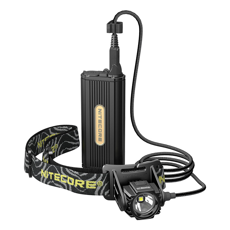 Nitecore HC70 1000 Lumens Rechargeable Cave Exploring Headlamp with External Battery Pack Waterproof Light Travel Free Shipping