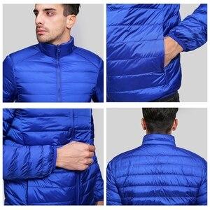 Image 4 - NewBang Brand Ultralight Down Jacket Men Down Coat Male Autumn Winter Double Side Feather Reversible Windproof Lightweigt Parka