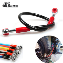 450mm Universal Motorcycle Brake Oil Hose Stainless Steel and Plastic Braided Dirt Bike For Aprilia RS 125 YAMAHA YBR