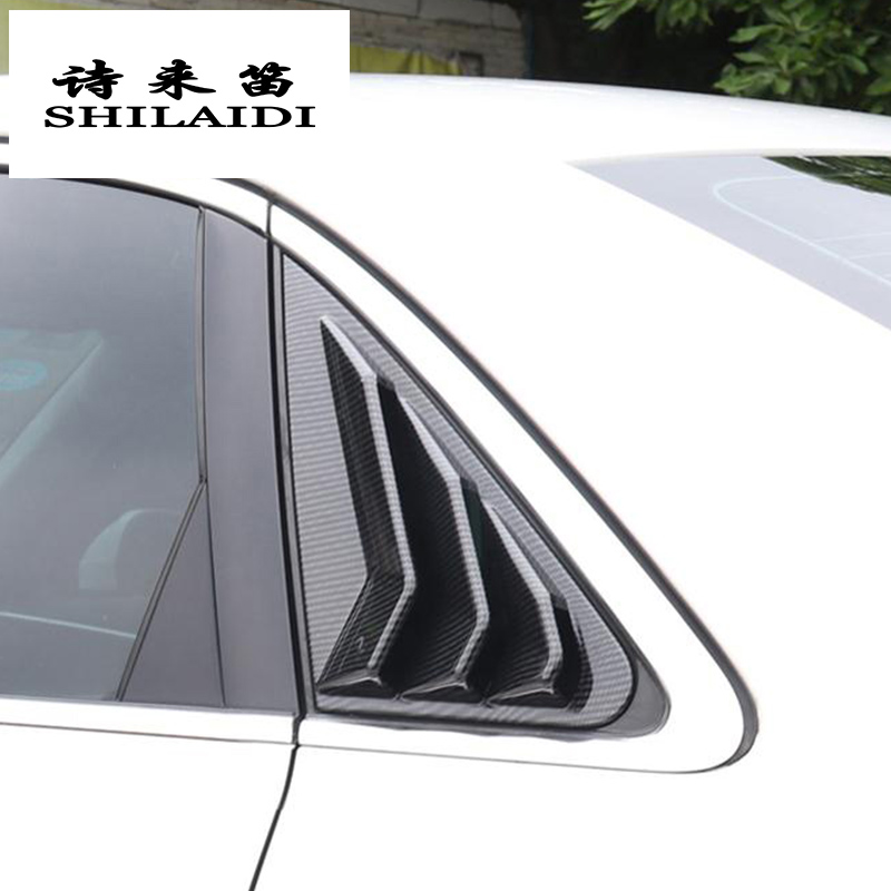 Real Carbon Fiber Rear Car Logo Sticker Decal Fit For Audi A4 2017-2019