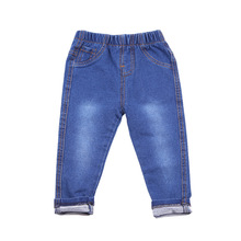 VIDMID Children Jeans baby Boys Denim trousers Girls Jeans Casual pants for kids clothing spring soft leggings 1017 01 cheap Elastic Waist Patchwork Straight Fits true to size take your normal size Unisex NONE Washed Cotton Full Length