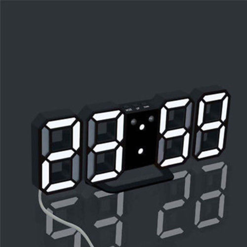 Aimecor Four Colors Digital LED Wekker Night Wall Clock Alarm Watch Acrylic Table Electronic Watch Christmas Products