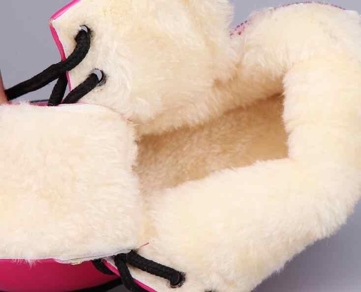 Зимние Детские кожаные сапоги; женская кожаная обувь для мальчиков; тонкие ботинки; теплые ботинки на меху; ботинки для маленьких девочек; детские кроссовки