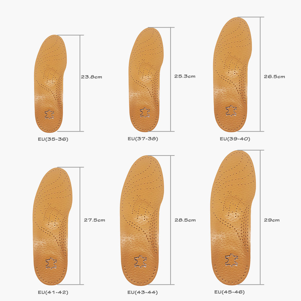 High quality leather orthopedic insole Details 9