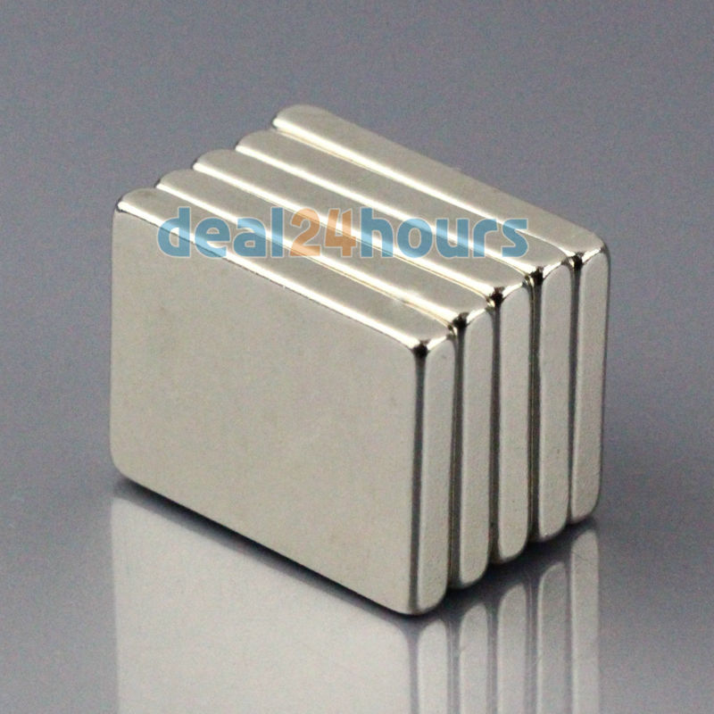 20Pcs N50 Super Strong Block Cuboid Magnets Rare Earth Neodymium 30 x 10 x 3 mm