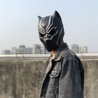 Minch 3D Black Panther Latex Mask Wakanda king T'Challa Masks Movie Fantastic Masks Cosplay Adult Halloween Party Props