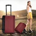 Alta calidad de Oxford mujeres y hombres bolsas de viaje, bolso de la carretilla plegable del bolso de balanceo, viaje de gran capacidad maleta sobre ruedas