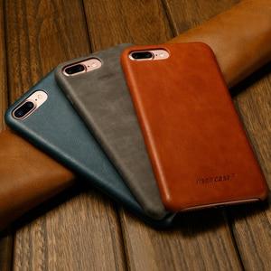 Image 2 - ซองหนังแท้สำหรับ iPhone 7 8 สำหรับ iPhone X Case Jisoncase หนัง Slim Hard Back สำหรับ iPhone 7 8 PLUS 5.5