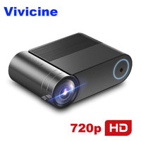 VIVICINE 720p HD LED Projector,Option Android 7.1 Portable HDMI USB 1080p Home Theater Proyector Bluetooth WIFI Mini LED Beamer