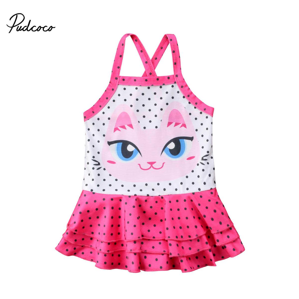 ea551243c037 ... 2018 Lovely Swimwear Toddler Baby Girl Tankini Polka Dots Bikini  Sleeveless Swimwear Swimsuit Bathing Toddler Girls ...