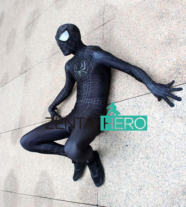 Free Shipping DHL 2017 Spider Man <font><b>3</b></font> Spider-Man <font><b>Costume</b></font> Spandex Black <font><b>Spiderman</b></font> Superhero <font><b>Costume</b></font> With Eyes 16121302