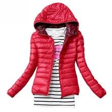 Основные черные капюшоном случайные куртки женский тонкий бренд пальто осень зима