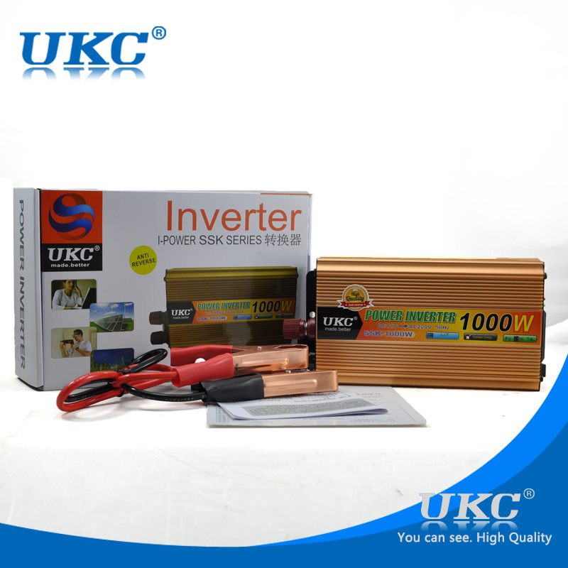 CE UKC 1000W 2000W <font><b>Car</b></font> Power inverter DC <font><b>12V</b></font> <font><b>to</b></font> AC <font><b>220V</b></font> Power inverters Converter USB Cigarette Light for Notebook <font><b>Adapter</b></font> image