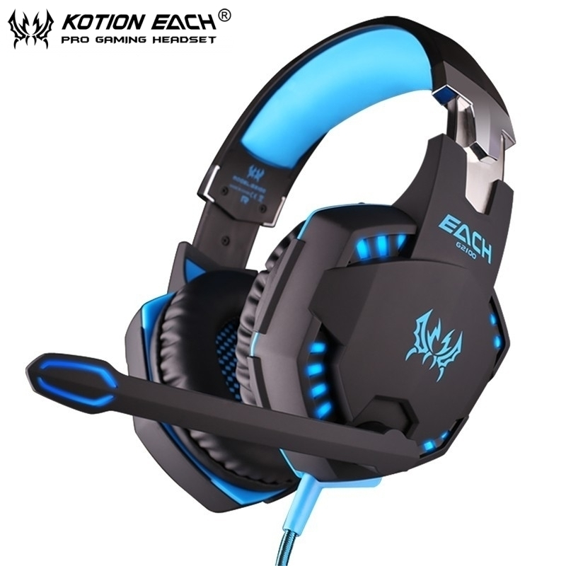 New Hot Each G2100 Gaming Headphones Vibration Function Pro Game Bass Stereo Headset fone de ouvido With Mic LED Light For PC  jakcom r3 smart ring new product of earphones headphones as fone de ouvido para pc gaming headphones headphones for girls