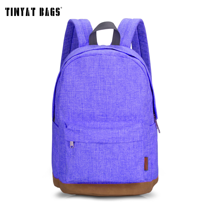 TINYAT Canvas School Backpack Student Casual Women Men backpacks for teenage Laptop Rucksacks for girls Travel Bag T101 Mochia free shipping casual canvas backpack school bag student backpack panda backpack