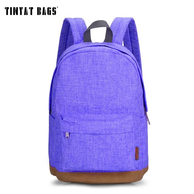TINYAT Canvas School Backpack Student Casual Women Men backpacks for teenage Laptop Rucksacks for girls Travel Bag T101 Mochia