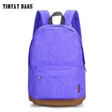 Tinyat escuela estudiante mochila de lona ocasional mujeres hombres mochilas para adolescentes mochilas para niñas viajan bolsa de ordenador portátil mochia t101