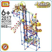 LOZ ideas Motor Building Block Bowling Game Creative Science Education DIY Model Assemble Toys For Kids Playground Large 2017