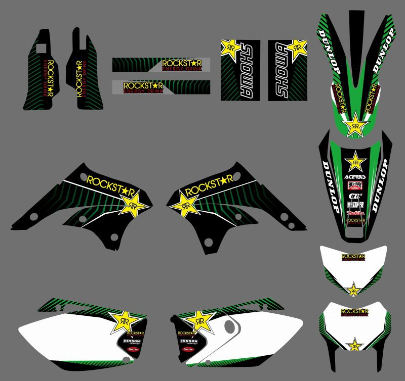 Motorcycle TEAM GRAPHICS & BACKGROUNDS DECALS STICKERS Kits fit for Kawasaki KLX450 KLX 450 2008 2009 2010 2011 2012 0251 new style team decals stickers graphics kits for sx50 50cc 50 50sx for ktm 50 2009 2010 2011 2012 2013