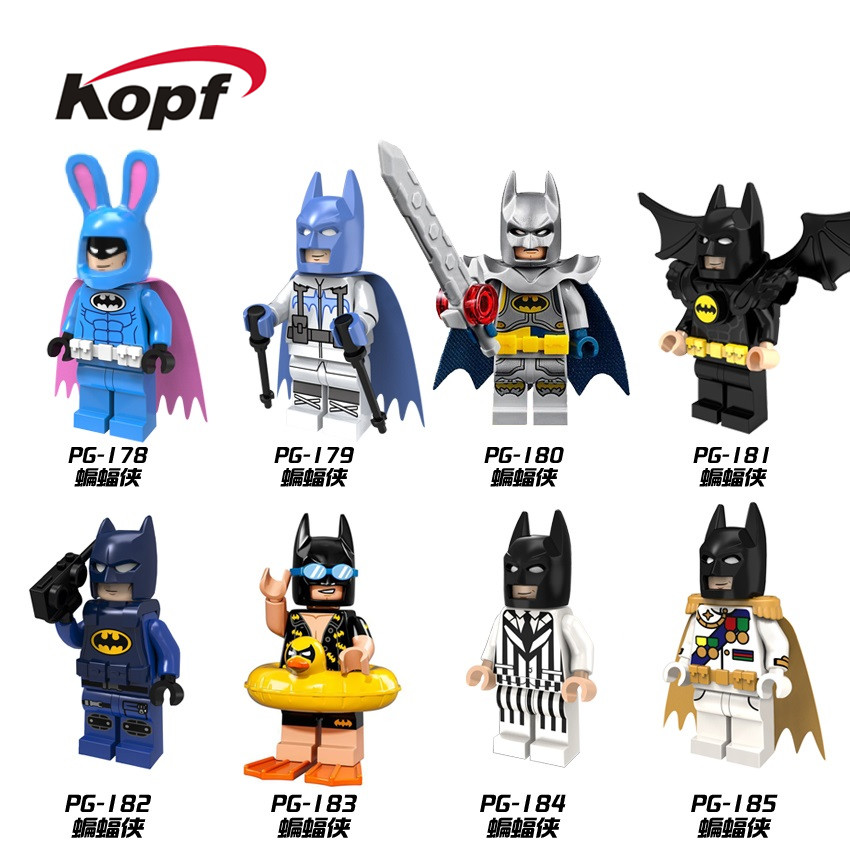 Single Sale Super Heroes Fairy Joker Rabbit Seials Swim Batman Movie Building Blocks Collection Toys for children PG8047 single sale pirate suit batman bruce wayne classic tv batcave super heroes minifigures model building blocks kids toys gifts