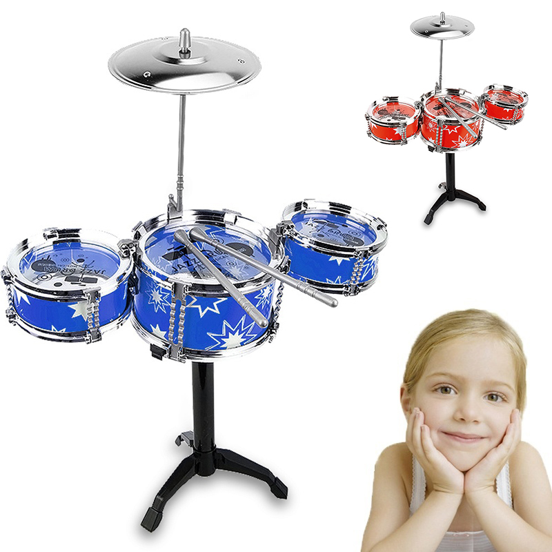 Yuker ChildrenS Drum Set with Chair Music Simulation Jazz Drum Rock Drums Kids Educational Toy Plating Drums Gifts ...