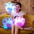 wholesale Hot Luminous Palm pillow Toys Christmas Toys Led Light Pillow plush Pillow kids Toys Birthday Gift
